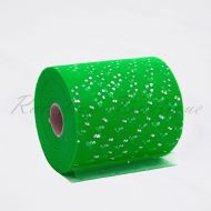Emerald Sequin Heart Tulle Roll